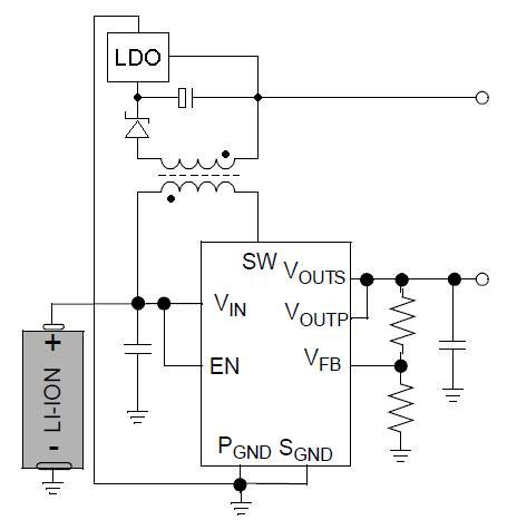Przetwornica odwracaj�ca 1,2V -> -2,5V