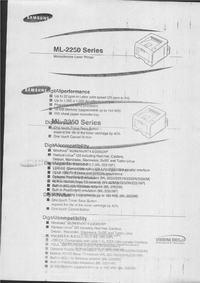Samsung ML-2250 - Powtarzający/odbijający się wydruk