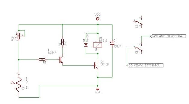 zmierzchowy wy��cznik, kt�ry steruje stycznikiem za��czaj�cym lampy o mocy 4kW