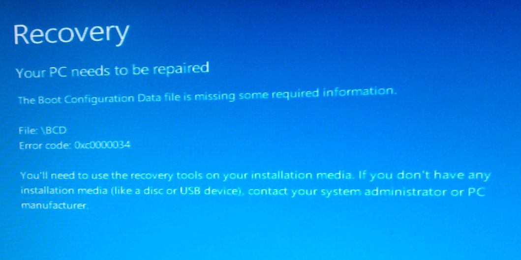 "Windows 8   "" File:  \BCD   - Error"""