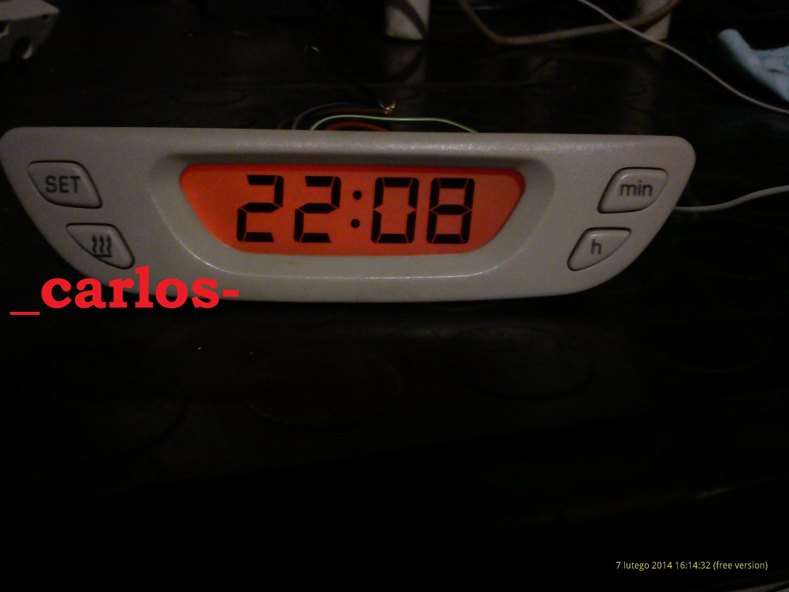 Sharan/Galaxy/Alhambra 95-00r - zegarek sterowania webasto- schemat po��cze�