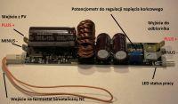 Regulator ładowania/zasil. grzałki 20A z wejściem do 100V Bociana, MPPT inaczej