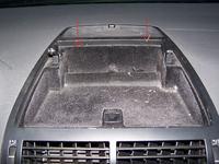 VW Sharan, 2001, 1,9tdi - demontaż schowka na desce