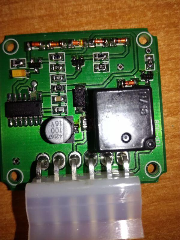 Moduł włączania i wyłączania napięcia po akumulatorze.