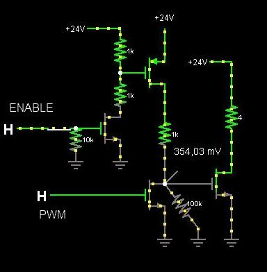 Sterowanie silnikiem DC 300W / prze��czanie kierunk�w