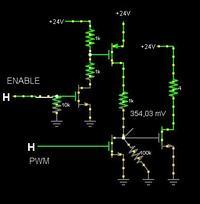 Sterowanie silnikiem DC 300W / przełączanie kierunków