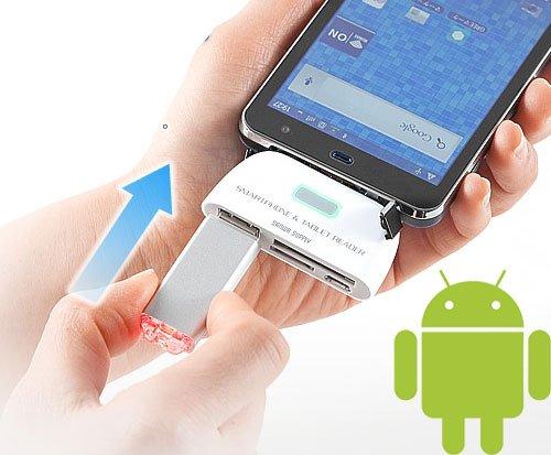 Sanwa USB Reader, czytnik kart i port USB dla smartphone'ów z Androidem