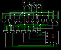 7 Segment Display Logic Gate Circuit
