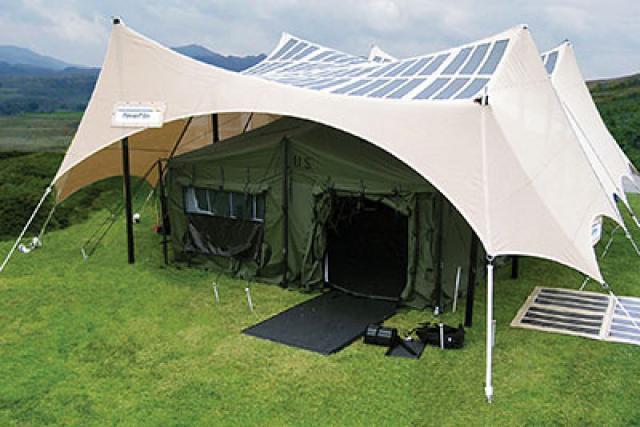 Namioty i zadaszenia z ogniwami solarnymi w s�u�bie armii?