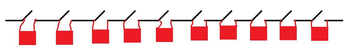 Pod��czenie diod LED do w��cznik�w po��czonych szeregowo