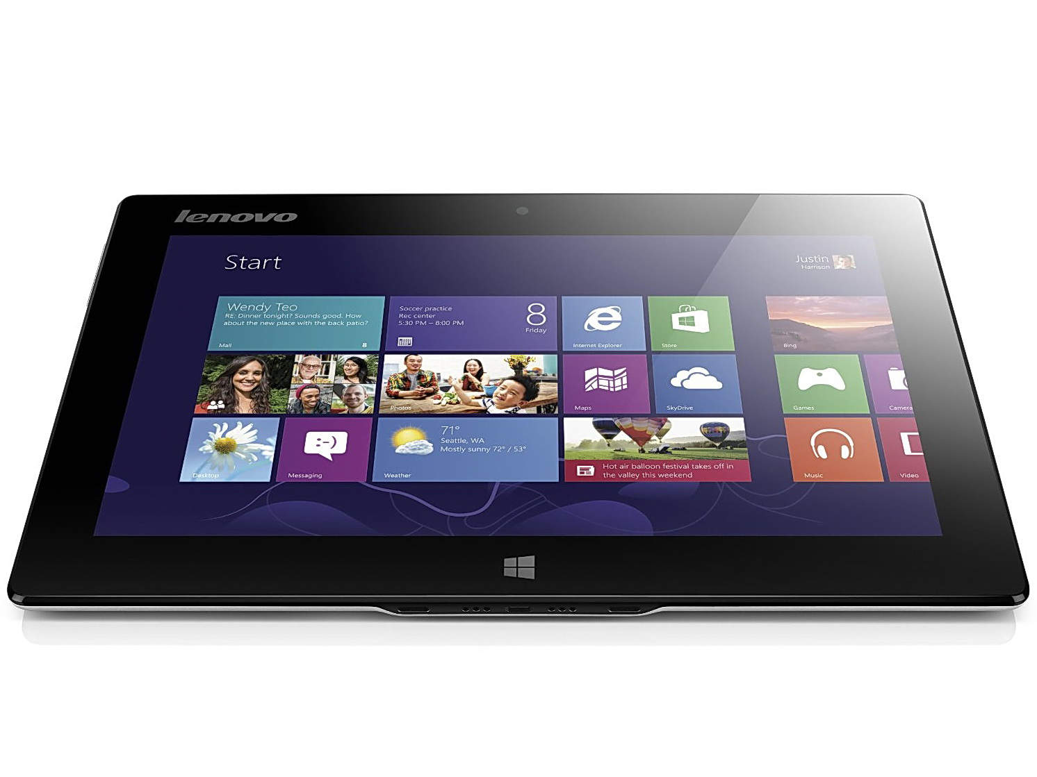 "Lenovo Miix 10 - tablet z 10,1"" ekranem, Atom Z2780 i Windows 8"