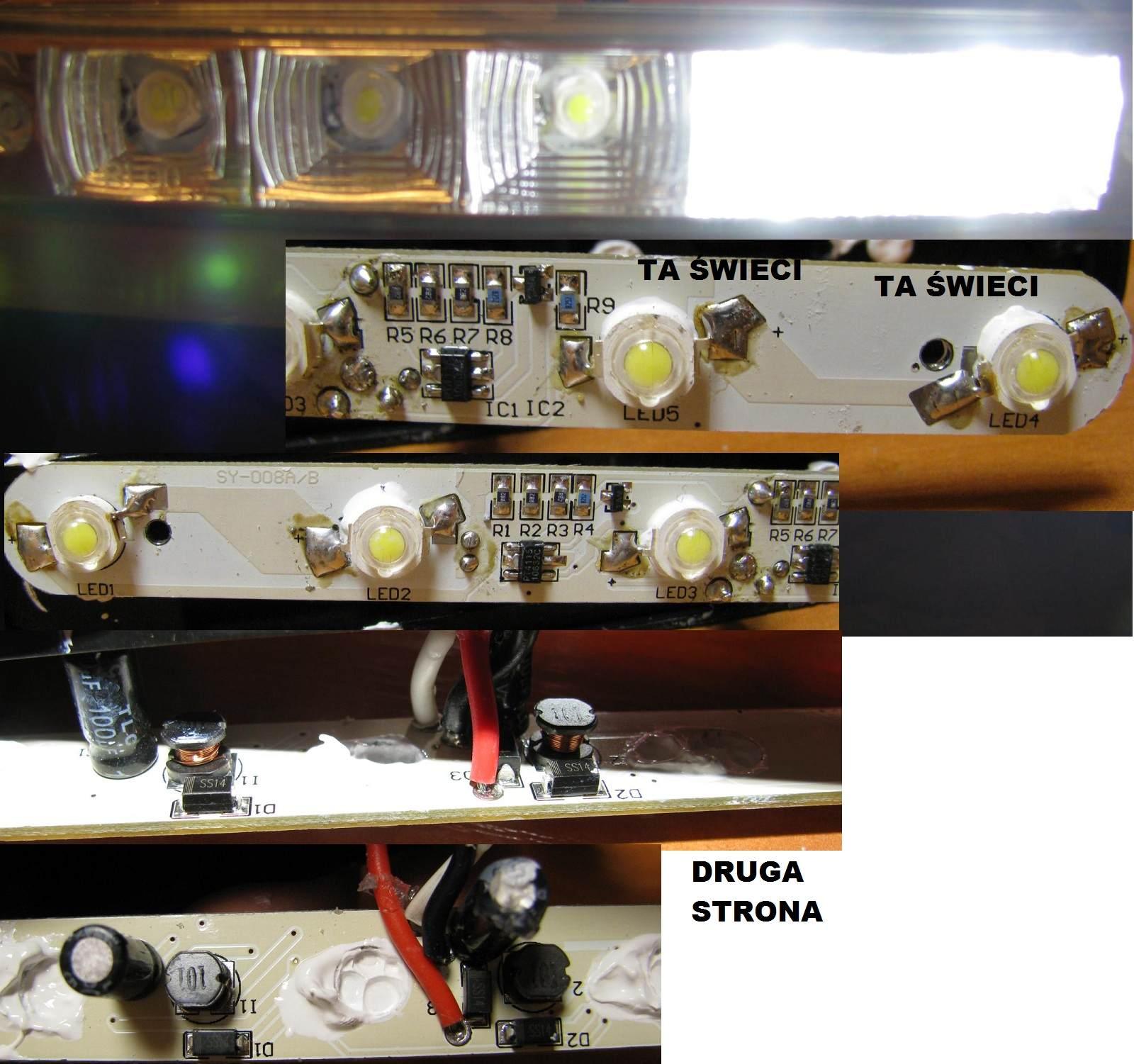 �wiat�a do jazdy dziennej LED DRL