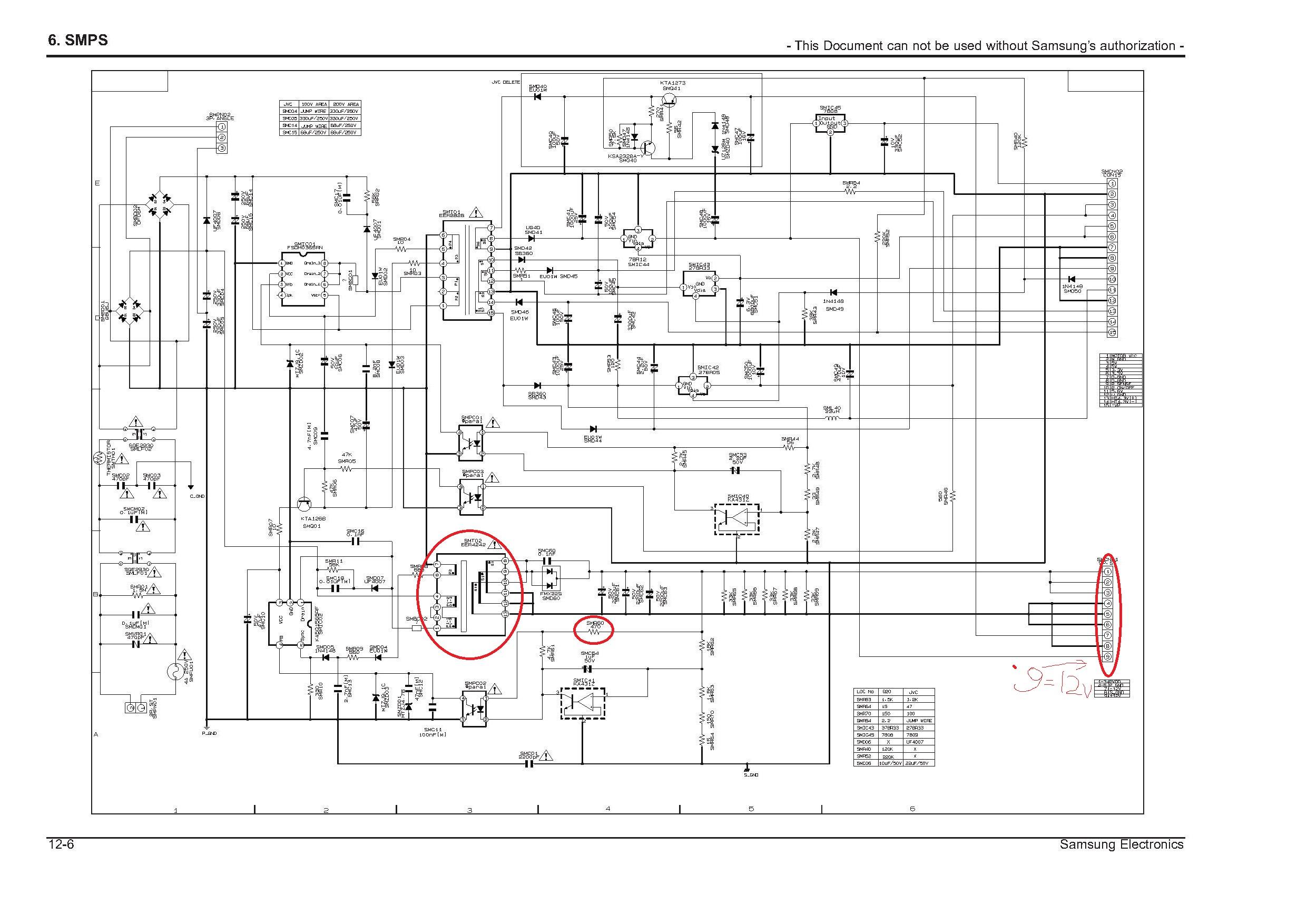 Brak napiec w kinie domowym Samsung HT-TZ 215