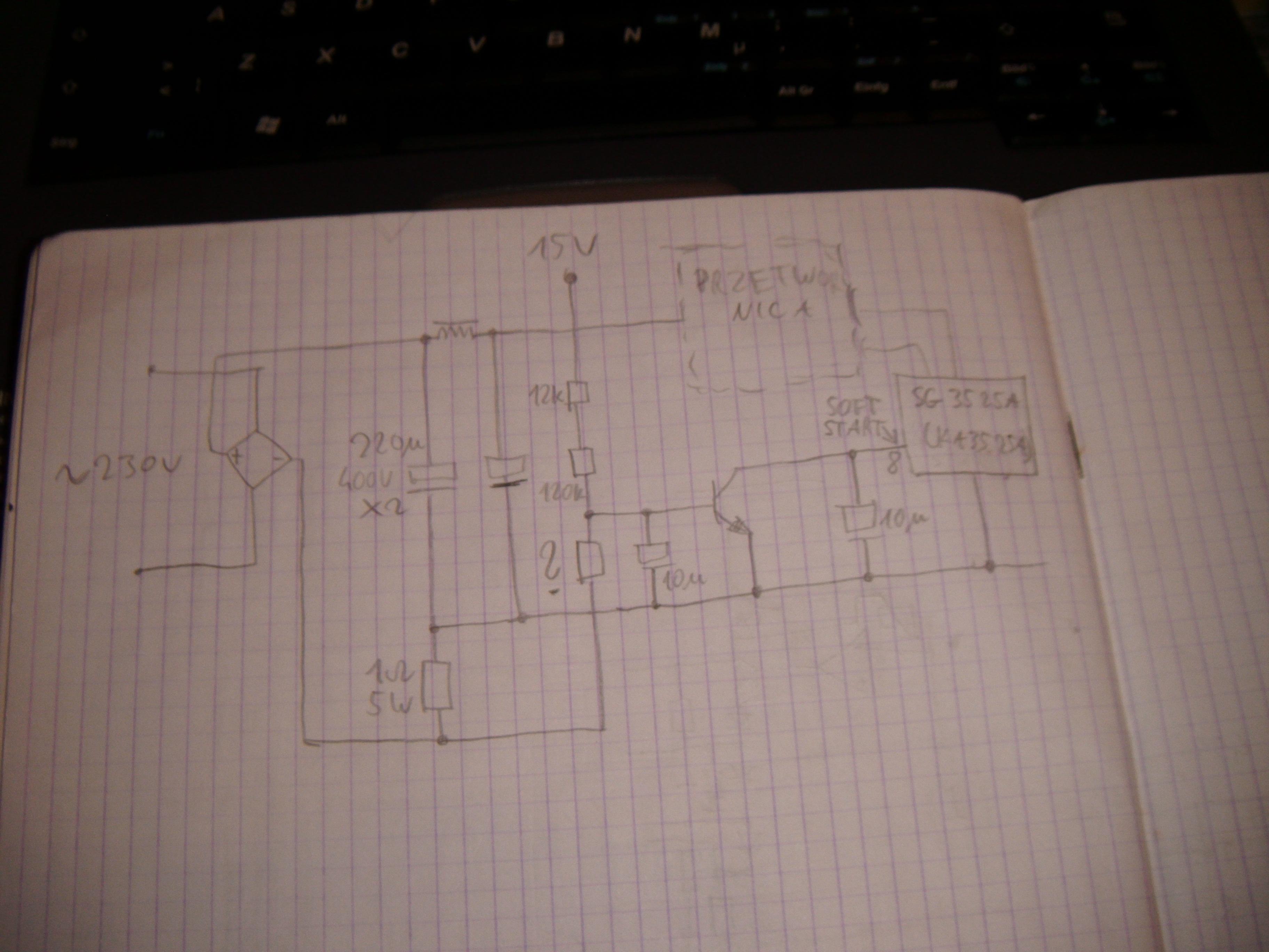 �adowarka na SG3525 - Rozszyfrowanie schematu.