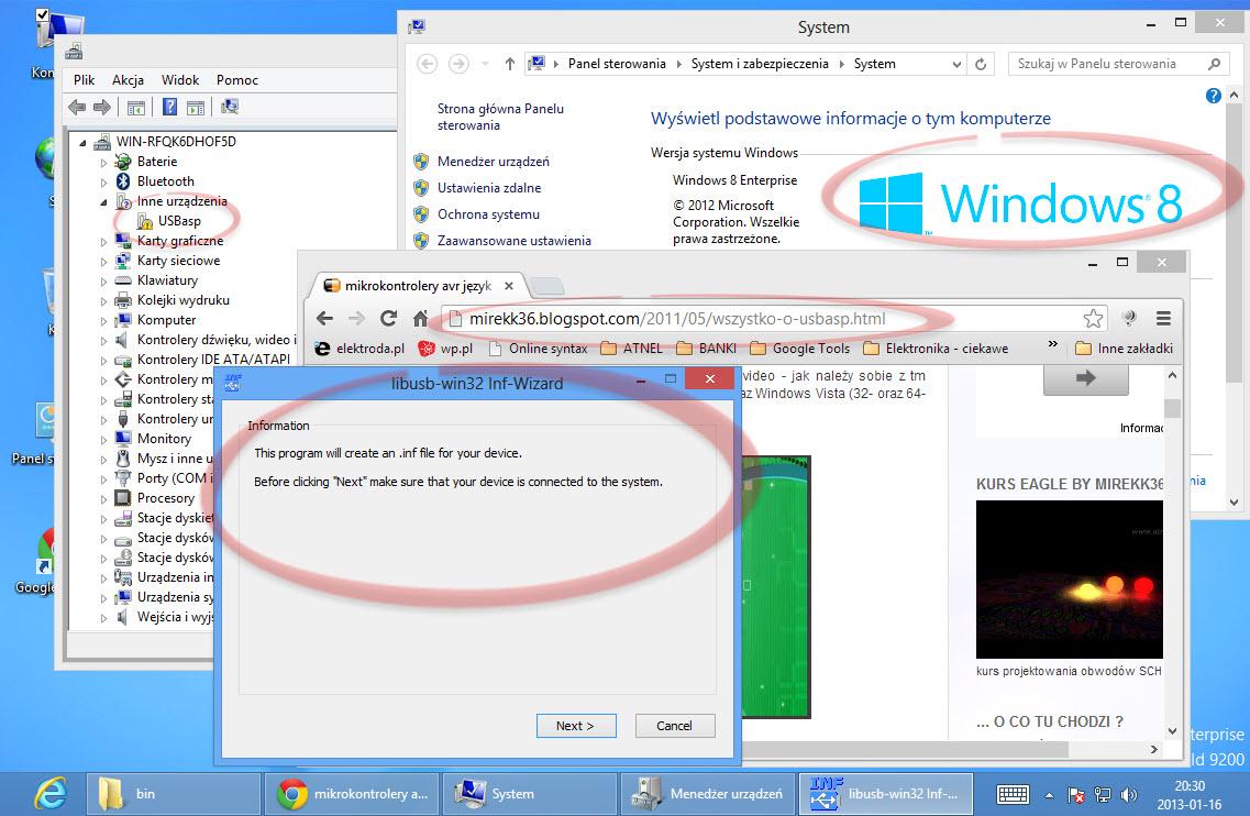Usbasp - Nie mog� zainstalowa� sterownika windows 8