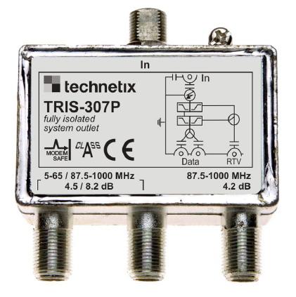 Tris-307p telewizja kablowa Vectra, podział sygnału tv