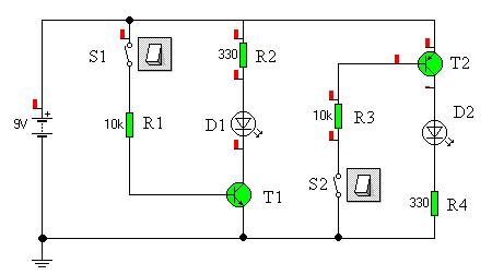 Sterowanie LED przy pomocy tranzystora i napiecie zalaczenia