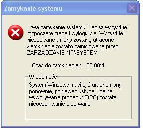 Windows sam sie zamyka.