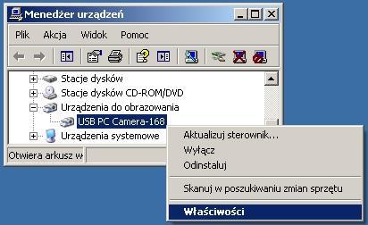 Instalacja kamerki internetowej e com dd1123