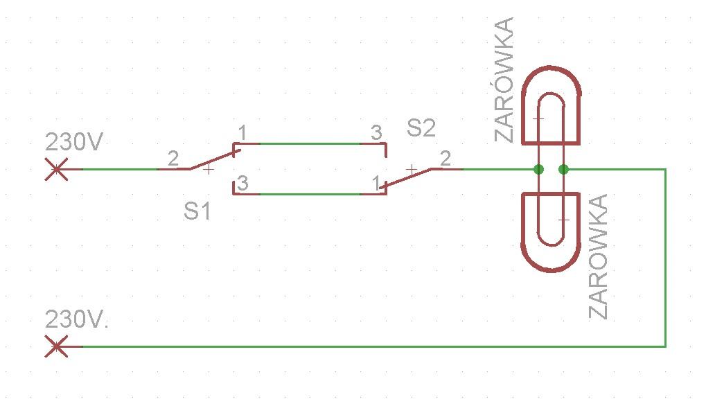 Wyłącznik Schodowy Dwie żarówki Instalacja 3 Przewodowa