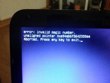 Ubuntu 14,04 - B��d instalacji b�d� bootowania