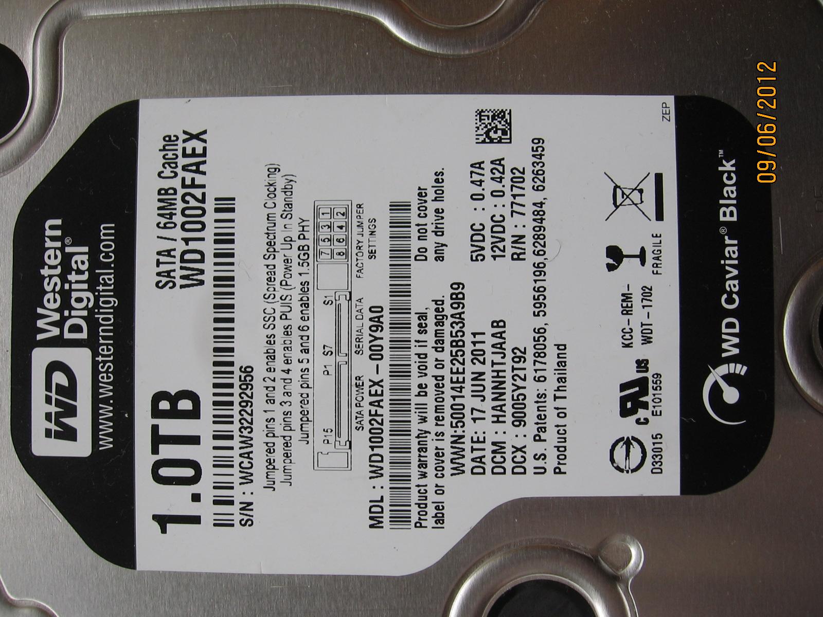 Dysk WD1002FAEX czy to spalona elektronika?