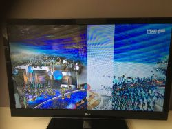 Telewizor LG 42 LW 4500 Zalany wodą z zabawki na wodę