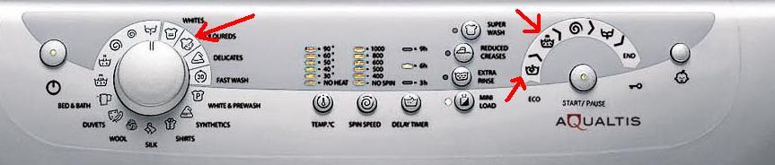 Ariston AQXL 109 - Nie dzia�a jeden tryb prania