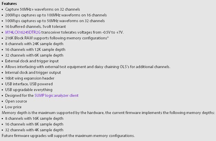 [Sprzedam] Analizator logiczny Open Workbench Logic Sniffer i dodatki (nowy)
