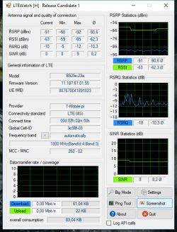 Ocena poprawa sygnału internetu. huawei b525s + tmobile 20Mb/s