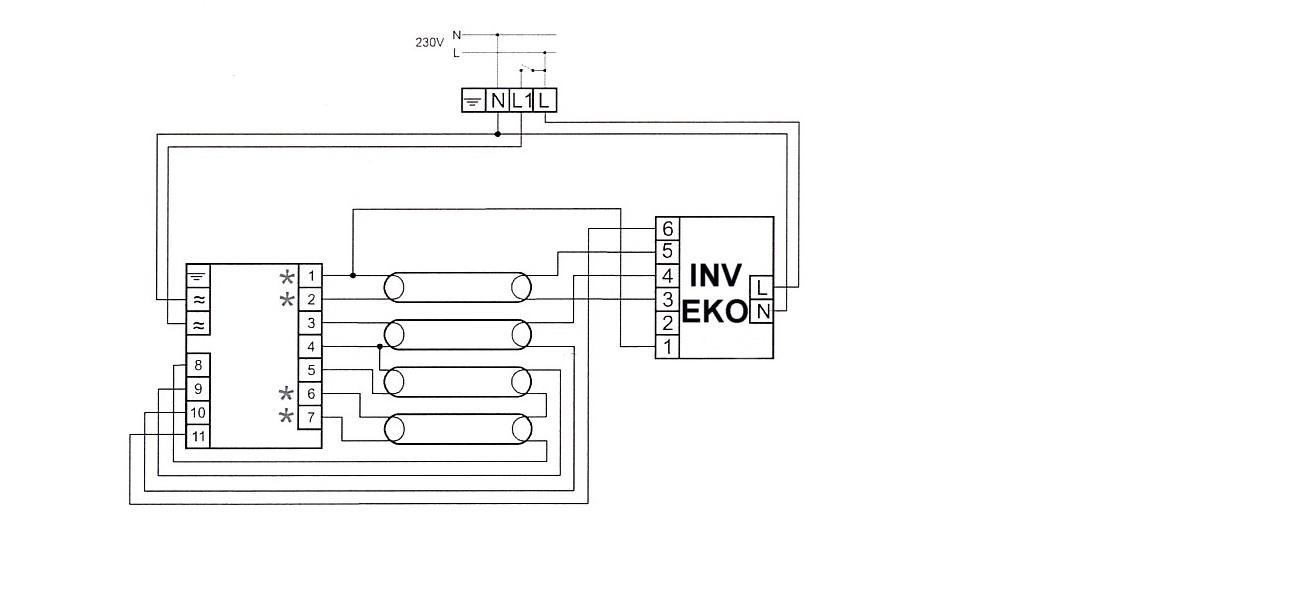 BL418us Eko M  - Modu� awaryjny w oprawie 4*18 - Jak pod��czy�