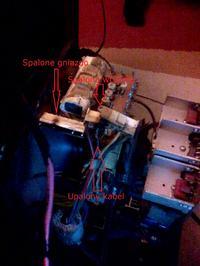 samsung s63b chasis - Nie uruchamia się kineskop, przepalony kabel