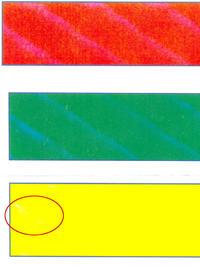 Xerox WC7328 - Niedokładnie nakłada Yellow (prążki)