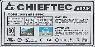 Chieftec model: APS-650C - spalone elementy zasilacza (po burzy)?