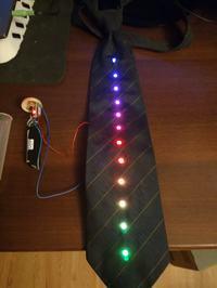 VU-TIE czyli krawat z wskaźnikiem poziomu głośności [arduino + WS2812B]