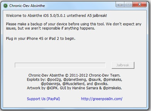Absinthe wreszcie jest untethered jailbreak dla iPhone'a 4S i iPada 2