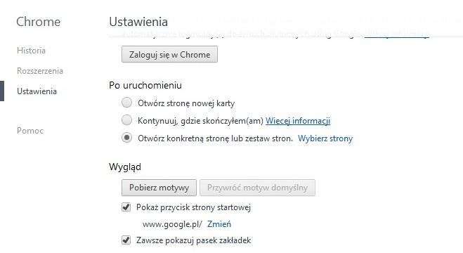 Asus K52JE Win 7 - Chrome nie otwiera startowej