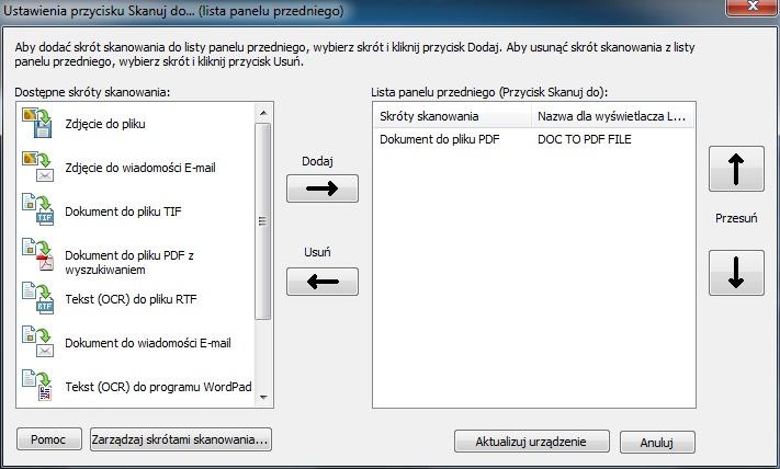 Skanowanie z panelu w HP L7590