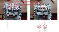 Legrand - Podłączenie wyłącznika podwójnego schodowego.