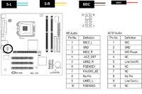 Gigabyte GA-8I945GZME-RH - Podłączenie przedniego panelu audio