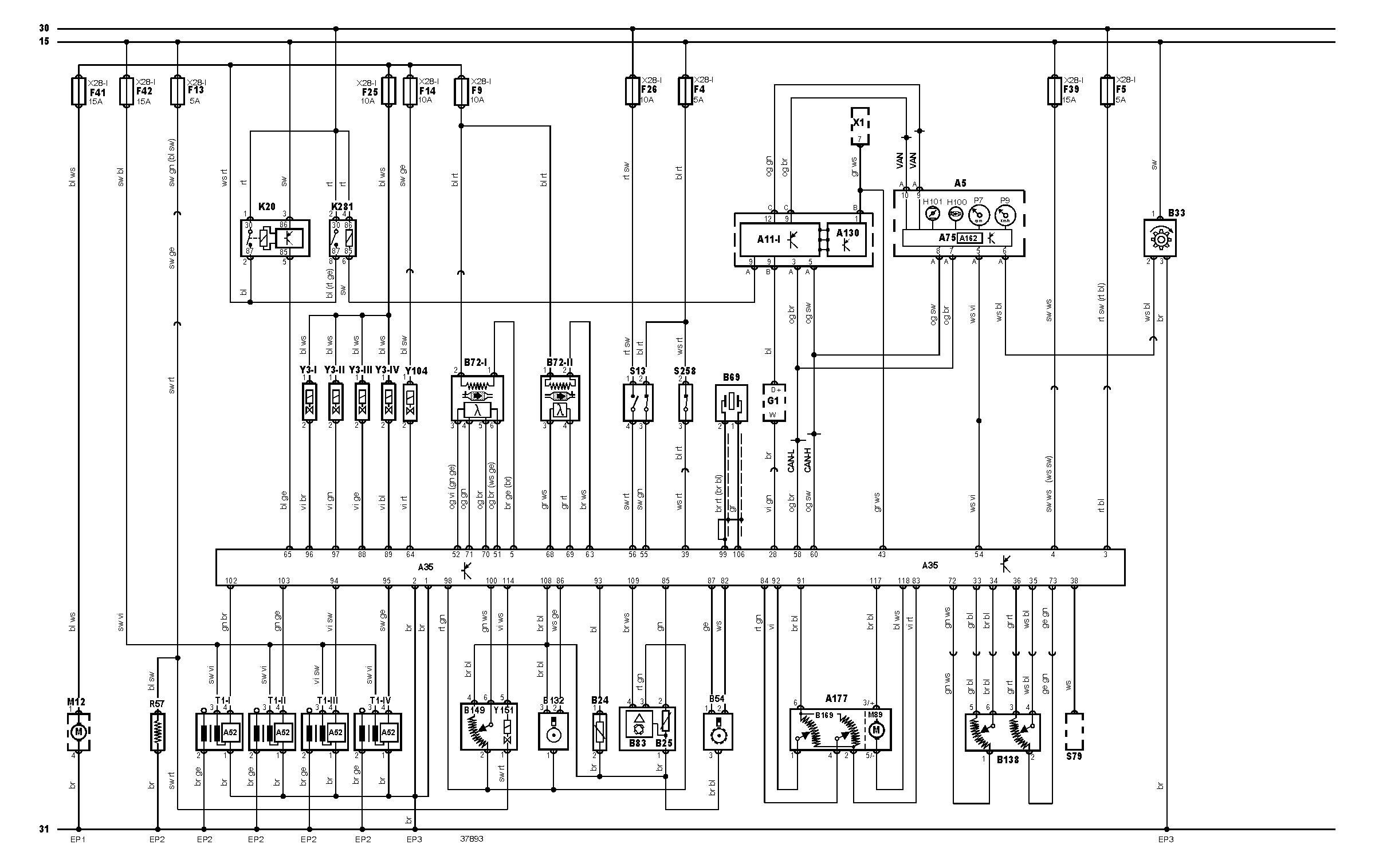 Ibiza 6L 1.4 16V  -  Schemat elektryczny, rozpiska pin�w