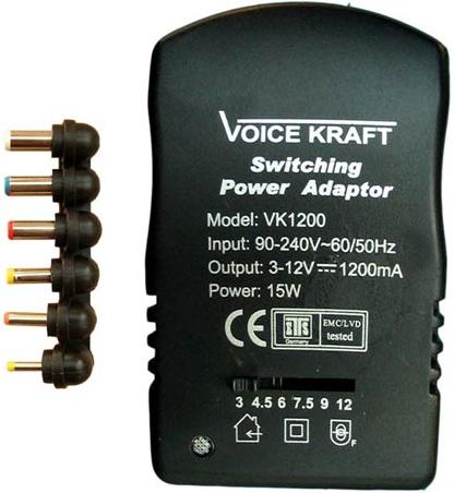 Voice Kraft model: VK1200 - Zasilacz potrzebny schemat lub zdj�cia makro