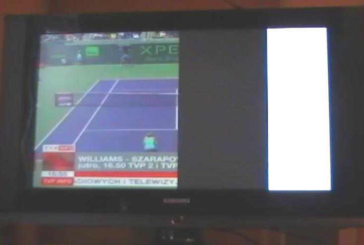LCD Samsung LE32S62B - P�l obrazu na ekranie