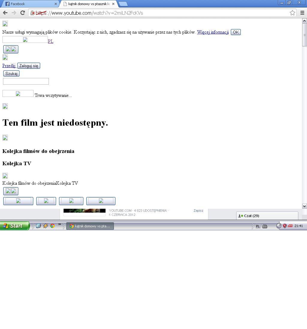 Youtube nie odtwarza filmlik�w ;|