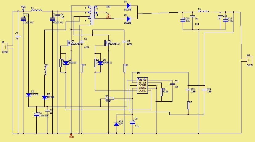 Przetwornica na układzie lm5030. Nie działa jak należy.