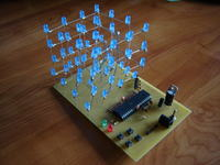 LED CUBE 4x4x4 Atmega16