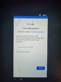 Homtom S8 - Blokada konta google