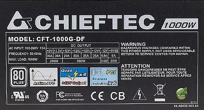 Chieftec model: CFT-1000G-DF 1000W - uszkodzony układ scalony SG6848?