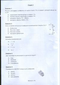 Arkusz egzaminu zawodowego; technik elektronik 2012