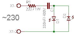dioda led jako wskaznik dzia�ania termostatu